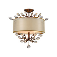 Asbury 3 Light 19 inch Spanish Bronze Semi Flush Mount Ceiling Light in Standard