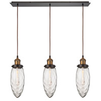 ELK 16310/3LP Owen 3 Light 36 inch Antique Brass with Oil Rubbed Bronze Linear Pendant Ceiling Light