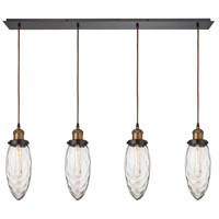 ELK 16310/4LP Owen 4 Light 46 inch Antique Brass with Oil Rubbed Bronze Linear Pendant Ceiling Light