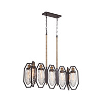 Owen 7 Light 35 inch Oil Rubbed Bronze,Antique Brass Chandelier Ceiling Light