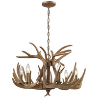 Elk 6 Light 25 inch Wood Brown Chandelier Ceiling Light