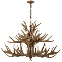Elk 12 Light 39 inch Wood Brown Chandelier Ceiling Light