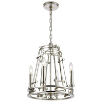 ELK 16341/4 Bergamo 4 Light 15 inch Polished Nickel Chandelier Ceiling Light