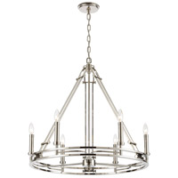 ELK 16342/6 Bergamo 6 Light 29 inch Polished Nickel Chandelier Ceiling Light