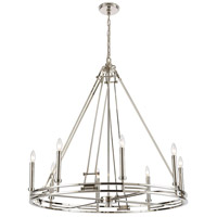 ELK 16343/8 Bergamo 8 Light 36 inch Polished Nickel Chandelier Ceiling Light