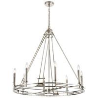 ELK 16343/8 Bergamo 8 Light 36 inch Polished Nickel Chandelier Ceiling Light