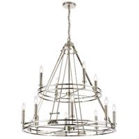 ELK 16344/8+4 Bergamo 12 Light 35 inch Polished Nickel Chandelier Ceiling Light