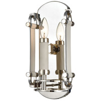 ELK 16350/1 Bergamo 1 Light 7 inch Polished Nickel ADA Sconce Wall Light