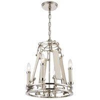 ELK 16351/4 Bergamo 4 Light 15 inch Polished Nickel Chandelier Ceiling Light