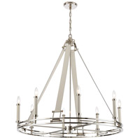 ELK 16353/8 Bergamo 8 Light 36 inch Polished Nickel Chandelier Ceiling Light