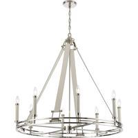ELK 16353/8 Bergamo 8 Light 36 inch Polished Nickel Chandelier Ceiling Light