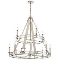 ELK 16354/8+4 Bergamo 12 Light 35 inch Polished Nickel Chandelier Ceiling Light