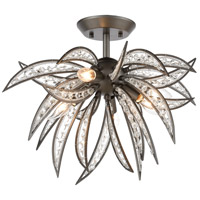 ELK 16362/5 Naples 5 Light 21 inch Dark Graphite Semi Flush Mount Ceiling Light