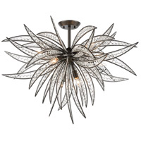 ELK 16363/8 Naples 8 Light 35 inch Dark Graphite Semi Flush Mount Ceiling Light