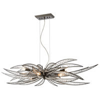 ELK 16366/6 Naples 6 Light 46 inch Dark Graphite Island Light Ceiling Light