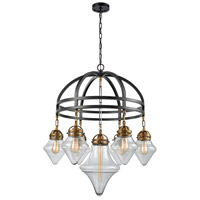 Gramercy 7 Light 33 inch Oil Rubbed Bronze with Classic Brass Chandelier Ceiling Light