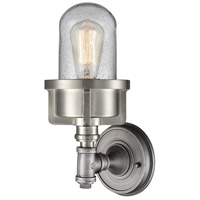 ELK 16500/1 Briggs 1 Light 6 inch Weathered Zinc with Satin Nickel Sconce Wall Light