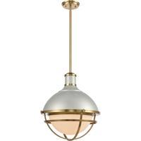ELK 16565/1 Jenna 16 inch Satin Silver/Satin Brass Pendant Ceiling Light