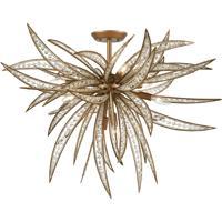 ELK 16763/8 Naples 35 inch Matte Gold Semi Flush Mount Ceiling Light