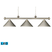 ELK Lighting Casual Traditions 3 Light Billiard/Island in Satin Nickel 168-SN-LED