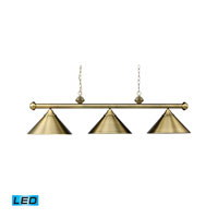 ELK Lighting Casual Traditions 3 Light Billiard/Island in Antique Brass 168-TB-LED