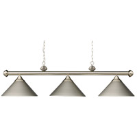 ELK 168-SN Casual Traditions 3 Light 51 inch Satin Nickel Billiard Light Ceiling Light in Incandescent