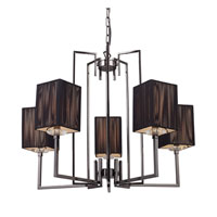 ELK Lighting Cubic 5 Light Chandelier in Black Chrome 17014/5 photo thumbnail