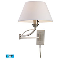 ELK Lighting Elysburg 1 Light Swingarm Sconce in Satin Nickel 17016/1-LED