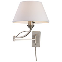 Elysburg 24 inch 150 watt Satin Nickel Swingarm Sconce Wall Light in Incandescent