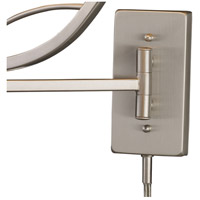 ELK 17016/1 Elysburg 24 inch 150 watt Satin Nickel Swingarm Sconce Wall Light in Incandescent alternative photo thumbnail