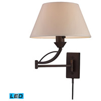 Elysburg 24 inch 13.5 watt Aged Bronze Swingarm Sconce Wall Light in LED