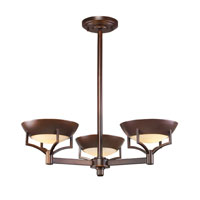 Sullivan 3 Light 23 inch Aged Bronze Chandelier Ceiling Light