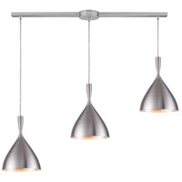 Spun Aluminum 3 Light 36 inch Aluminum Pendant Ceiling Light