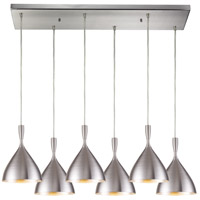 Spun Aluminum 6 Light 30 inch Satin Nickel Pendant Ceiling Light