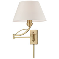 Elysburg 1 Light 12 inch French Brass Swingarm Wall Sconce Wall Light in Incandescent