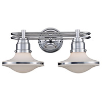 Retrospectives 2 Light 18 inch Polished Chrome Vanity Wall Light in Standard