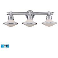 Retrospectives LED 28 inch Polished Chrome Bath Bar Wall Light in 3