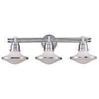 Retrospectives 3 Light 28 inch Polished Chrome Vanity Wall Light in Standard