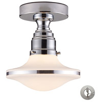 ELK 17053/1-LA Retrospectives 1 Light 8 inch Polished Chrome Semi Flush Mount Ceiling Light in Recessed Adapter Kit, Incandescent