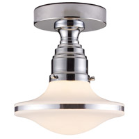 ELK 17053/1 Retrospectives 1 Light 8 inch Polished Chrome Semi-Flush Mount Ceiling Light in Standard