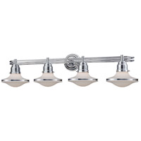 Retrospectives 4 Light 38 inch Polished Chrome Vanity Wall Light