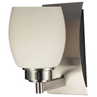 Northport 1 Light 7 inch Satin Nickel Vanity Light Wall Light in Incandescent