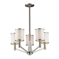 ELK Lighting Zanzabar 5 Light Chandelier in Satin Nickel 17124/5 photo thumbnail