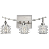 Matrix 3 Light 15 inch Satin Nickel Vanity Light Wall Light