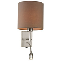 Regina 2 Light 7 inch Brushed Nickel Wall Sconce Wall Light in Standard