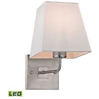 Beverly LED 6 inch Brushed Nickel Wall Sconce Wall Light