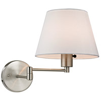 ELK 17153/1 Avenal 11 inch 75 watt Brushed Nickel Swing Arm Sconce Wall Light