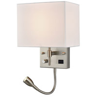 Signature 2 Light 8 inch Satin Nickel Wall Sconce Wall Light in Standard