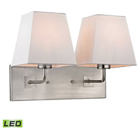 ELK Lighting Beverly LED Wall Sconce in Brushed Nickel 17161/2-LED