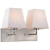 Beverly 2 Light 14 inch Brushed Nickel Wall Sconce Wall Light in Standard